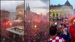 Croatian football team back home