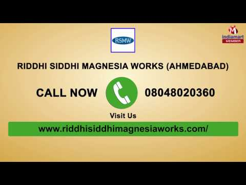 Magnesium Chloride Flake And Magnesium Ingot By Riddhi Siddhi Magnesia Works, Ahmedabad