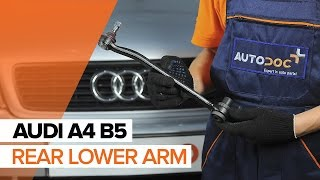 How to change Track control arm AUDI CABRIOLET - step-by-step video manual