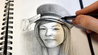 """""""Salute"""" Graphite Drawing time-lapse stop motion, by Jim McKenzie"""