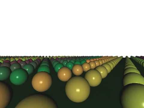 500 000 spheres demonstration of Spatial Partitioning / Frustum Culling  using NVidia's PhysX
