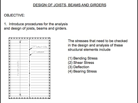 Beam Joist And Girders Design Example Of Beams Joist