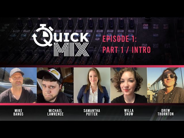 Allen & Heath QuickMix Episode 1, Part 1