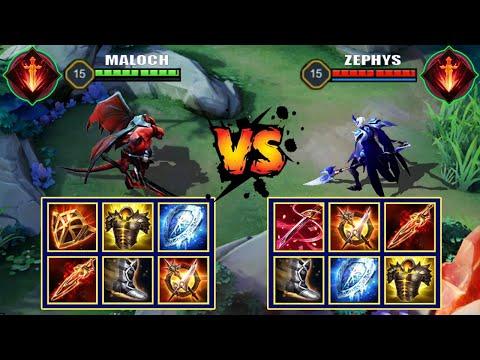 MALOCH vs ZEPHYS   FULL BUILD FIGHT   Liên Quân Mobile/AOV/ROV