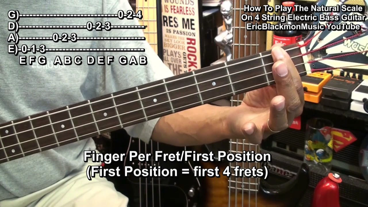 learning notes on the 4 string bass with the natural scale youtube. Black Bedroom Furniture Sets. Home Design Ideas
