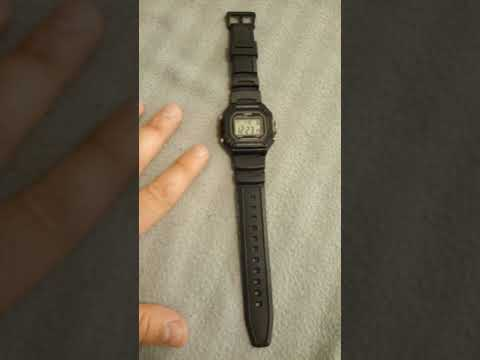 CASIO W-218H basic outdoor watch review and demonstration