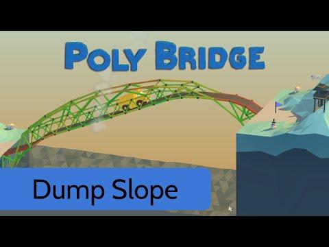 poly bridge level 3 5 dump slope youtube. Black Bedroom Furniture Sets. Home Design Ideas