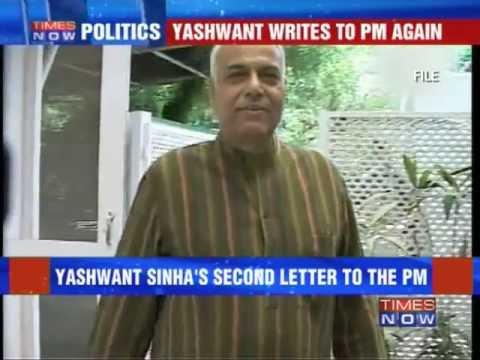 Yashwant Sinha writes to PM Manmohan Singh again.