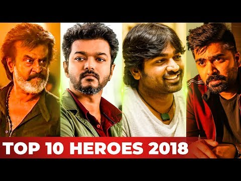 Top 10 Kollywood Heroes of 2018 by Galatta! | Rajinikanth | Vijay | Vijay Sethupathi | Simbu