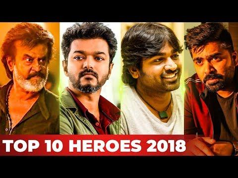 Top 10 Kollywood Heroes of 2018 by Galatta!   Rajinikanth   Vijay   Vijay Sethupathi   Simbu