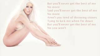 Christina Aguilera - Best of Me (with lyrics)