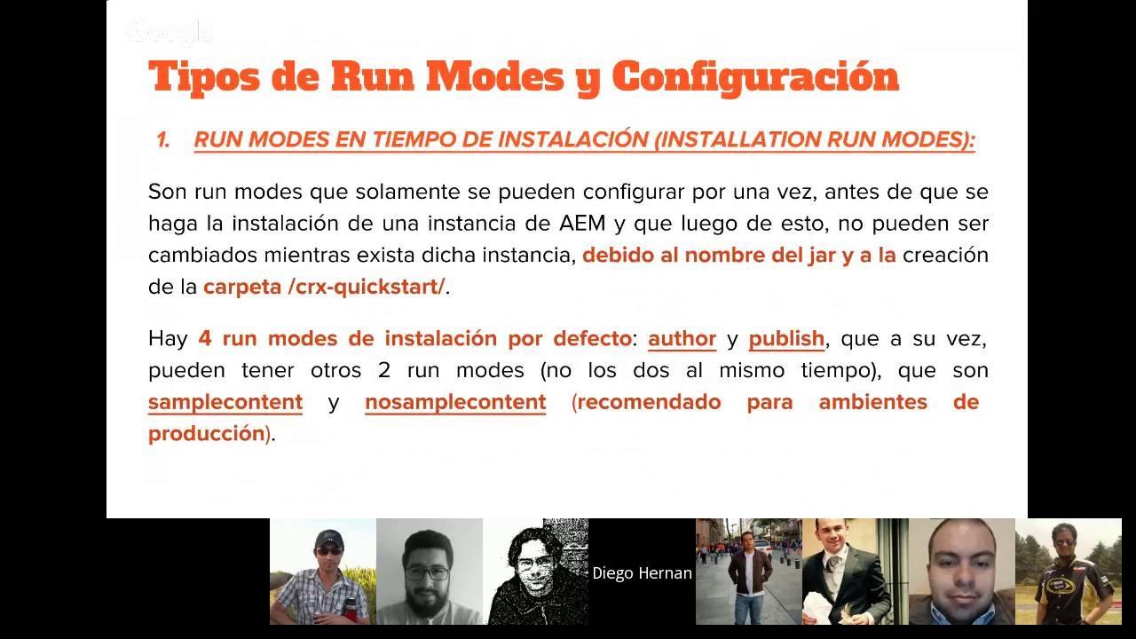 Aem 6 Certification Run Modes Youtube