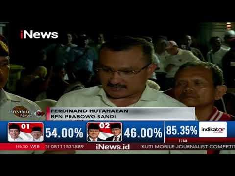 Ferdinand Hutahaean Tegaskan Prabowo & Sandi Unggul 52,5% - Breaking iNews 17/04
