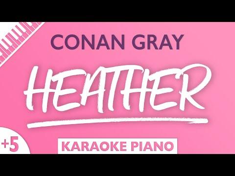 Conan Gray – Heather (Karaoke Piano) Higher Key