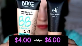 Drugstore BB Creams: NYC Instant Matte vs. ELF Studio BB Cream