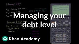 Managing your debt level