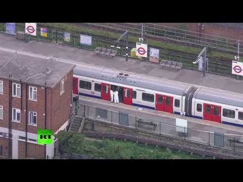 LIVE: Aerial view of Parsons Green tube station following explosion - PART 2