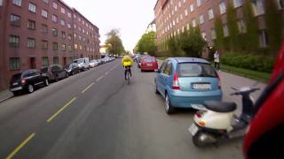 Frekk og farlig passering forbi syklist