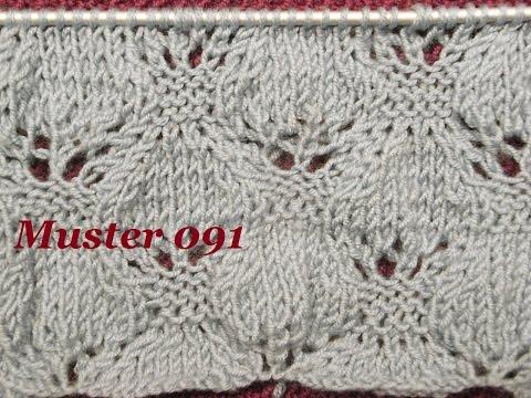 Muster 091*Stricken lernen*Ajourmuster Muster für Pullover Strickjacke Mütze Stirnband