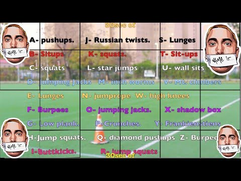 Eminem- my name is fitness challenge! | Fun name that workout