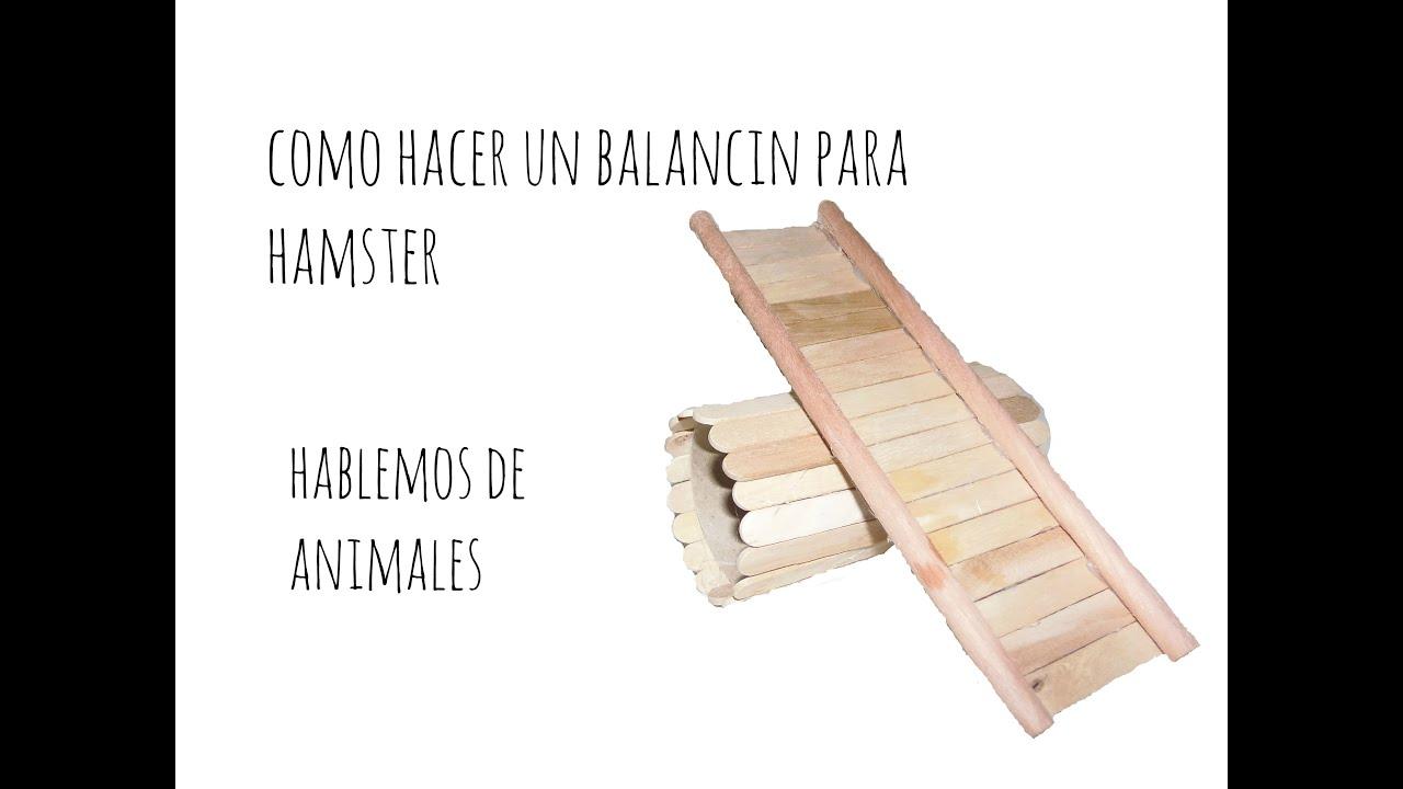 Como hacer un balancin para hamster jerbos o ratitas - Como hacer un columpio de madera ...