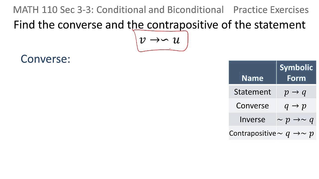 worksheet. Converse Inverse Contrapositive Worksheet ...