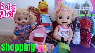 BABY ALIVE Goes Back To School Shopping Cool Backpacks