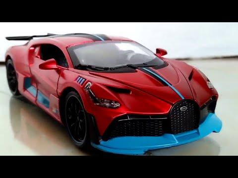 Bugatti Divo 1:32 scale Newao Diecast Car Close Up (Satin Red)