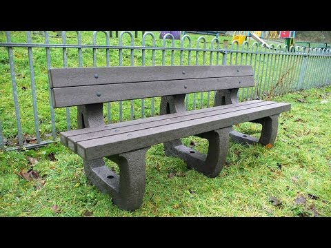 Recycled Plastic Bench - The Colne 4 seater