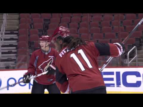 Larry Fitzgerald Skates with Shane Doan, Coyotes