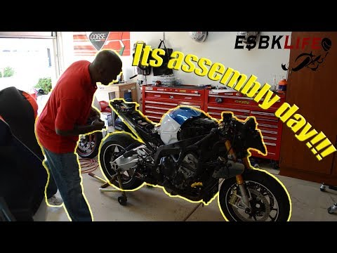 S1000RR Track Bike Build Part V:  Assembly Day