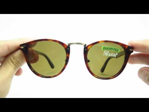 daf05d9de4096 Unboxing Persol PO 3108S Havana 24 57 Polarized 47MM Sunglasses