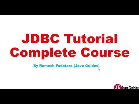 JDBC Tutorial | Complete Course for Beginners