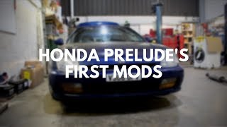 Honda Prelude's first mods