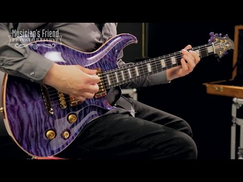 ESP Custom Mystique Electric Guitar, Indigo Purple Quilt