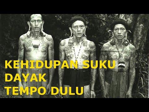 Sejarah Kehidupan Suku Dayak Tempo Dulu [SLIDE FOTO]