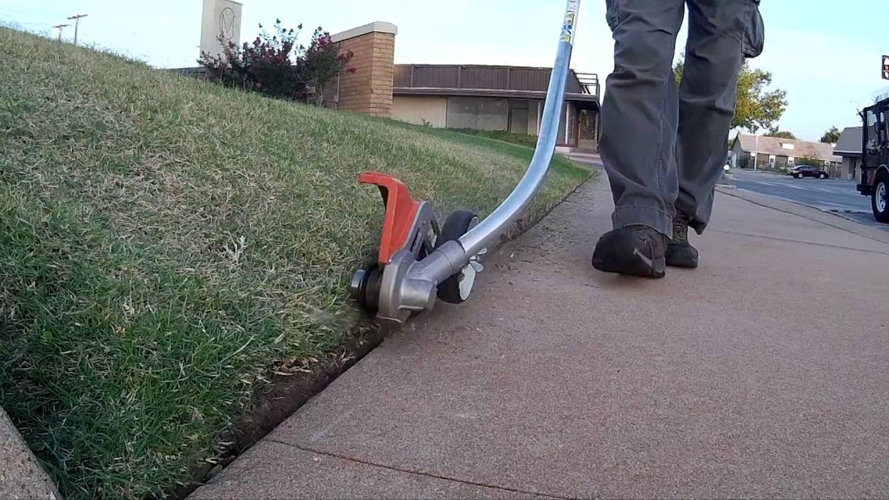how to use a stick edger