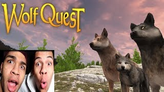 WOLF SIMULATOR | Wolf Quest | PrankBrosGames