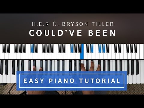 H.E.R. ft. Bryson Tiller -  Could've Been EASY PIANO TUTORIAL