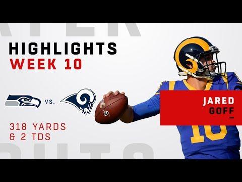 Jared Goff Highlights vs. Seahawks
