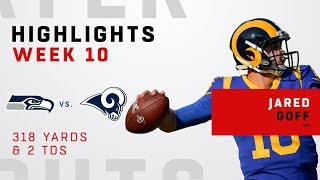 Jared Goff Highlights vs. Seahawks