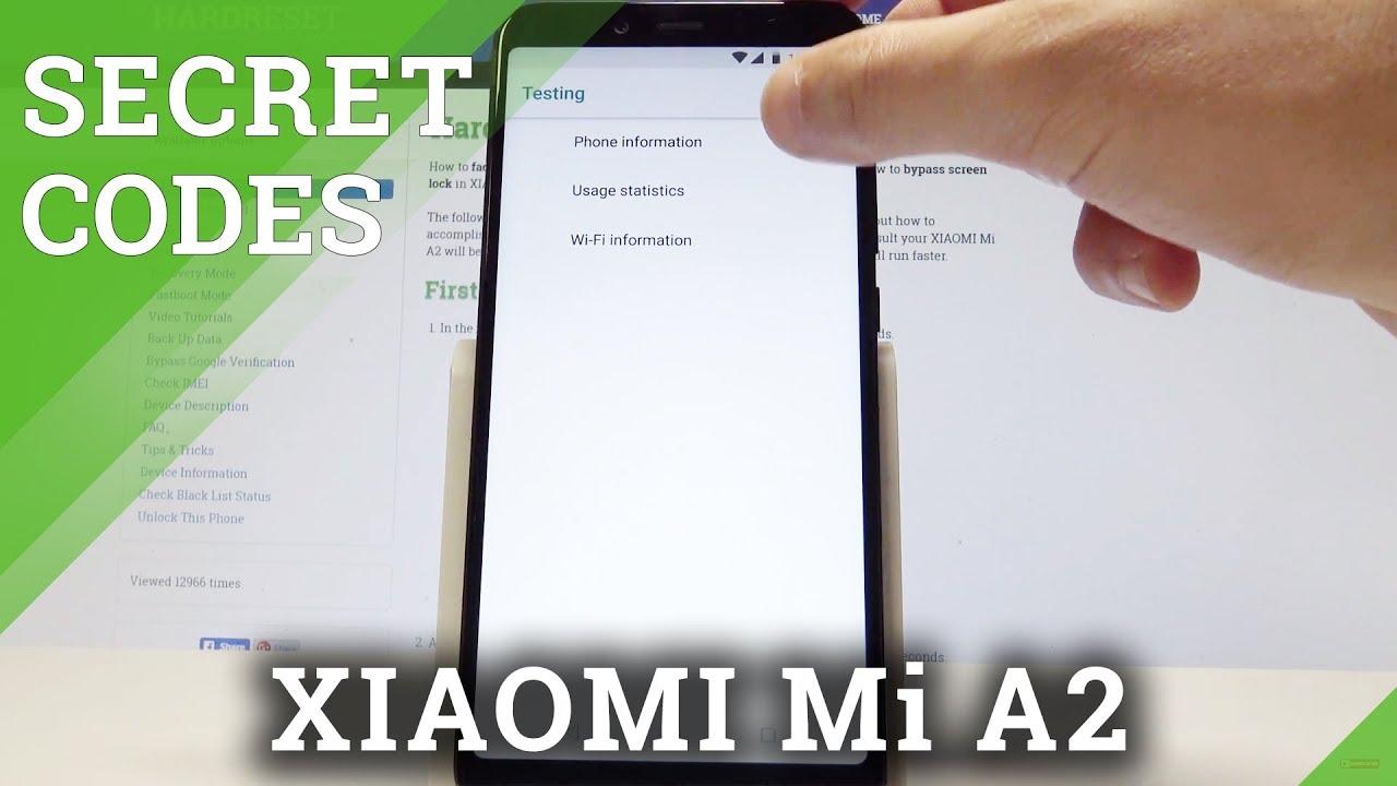 Codes XIAOMI Mi A2 - HardReset info