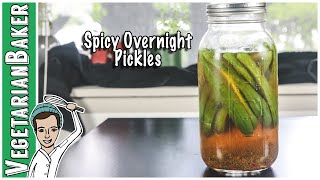 How to Make Spicy Overnight Pickles | Easy Pickle Recipe!