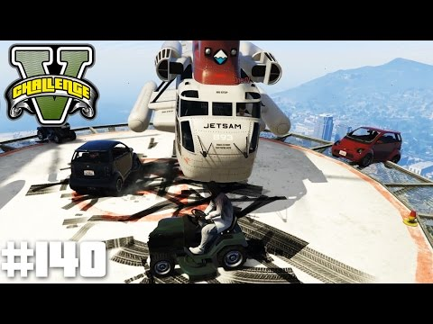UNGLEICHES DUELL - HELIKOPTER VS RASENMÄHER! | GTA 5 CHALLENGES