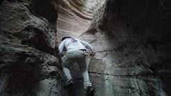 Remote slot canyon near Clifton AZ with a surprise bear encounter