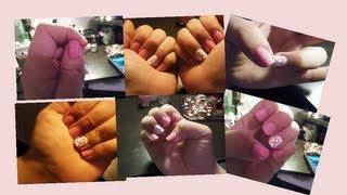 Breast Cancer nail design!! Thumbnail