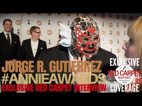 Jorge R. Gutiérrez, Son of Jaguar ed at the 45th Annual Annie Awards ANNIEAwards