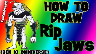 How To Draw RipJaws from Ben 10 Omniverse ✎ YouCanDrawIt ツ 1080p HD