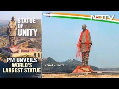 PM Unveils Sardar Patel's Statue Of Unity, World's Tallest