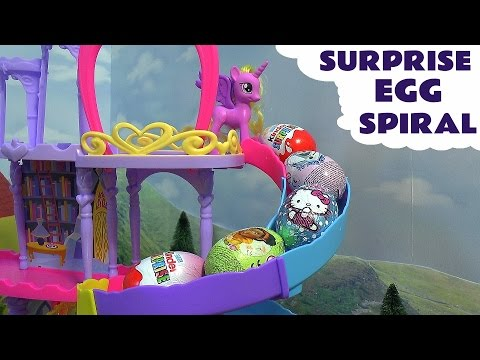 Surprise Egg Spiral Frozen Elsa Anna Play-Doh My Little Pony Thomas The Train Hello Kitty Kinder